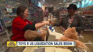 Toys R Us' liquidation sales begin - Video
