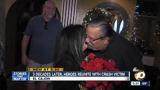 Three decades later, heroes reunited with crash victim - Video