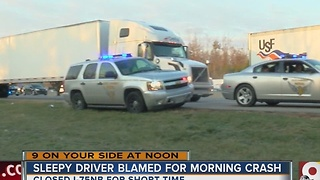 Sleepy driver blamed for early morning crash on I-75 - Video