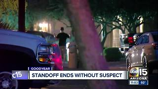 No suspect located after Goodyear barricade situation - Video