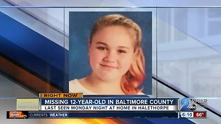 Police looking for missing girl from Baltimore County