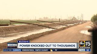 Thousands without power in Buckeye after monsoon storm - Video