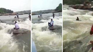 Tragic moment: 40-year-old Indian scientist drowns in river during picnic with family - Video