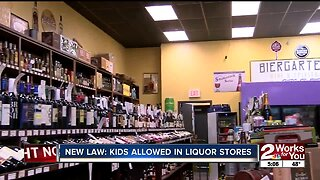 NEW LAW: KIDS ALLOWED IN LIQUOR STORES