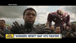 'Avengers: Infinity War' hits theaters - Video