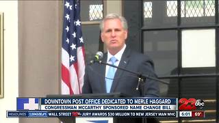 McCarthy spearheads the naming of the Merle Haggard Post Office