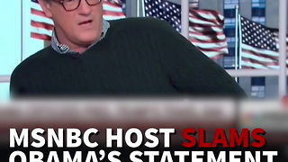 MSNBC Host Slams Obama's Statement Supporting Muslim Ban Protests - Video