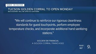 Golden Corral reopens with cafeteria-style serving modifications