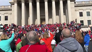 Teachers Chant '55 Strong' Outside West Virginia State Capitol - Video