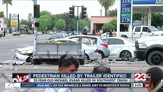 Pedestrian killed by trailer identified - Video