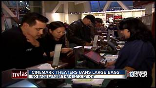 Cinemark implements ban on large bags - Video