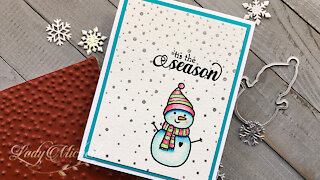 Masculine Series | Little Snow Guy Holiday Card