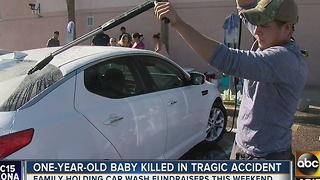 Family holding fundraiser after baby hit, killed by car in Phoenix - Video
