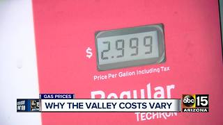 Gas prices continue to climb around the Valley