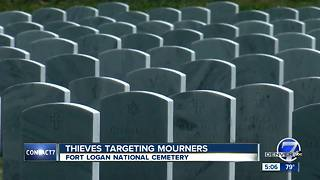Thieves targeting mourners at local cemetery - Video