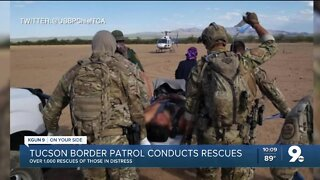Border Patrol agents have made over 1,000 rescues