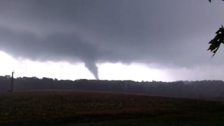 Possible Tornado Forms Near Polkville, North Carolina - Video