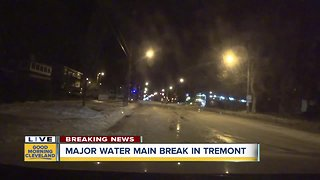 Water main break causing major issues in Tremont