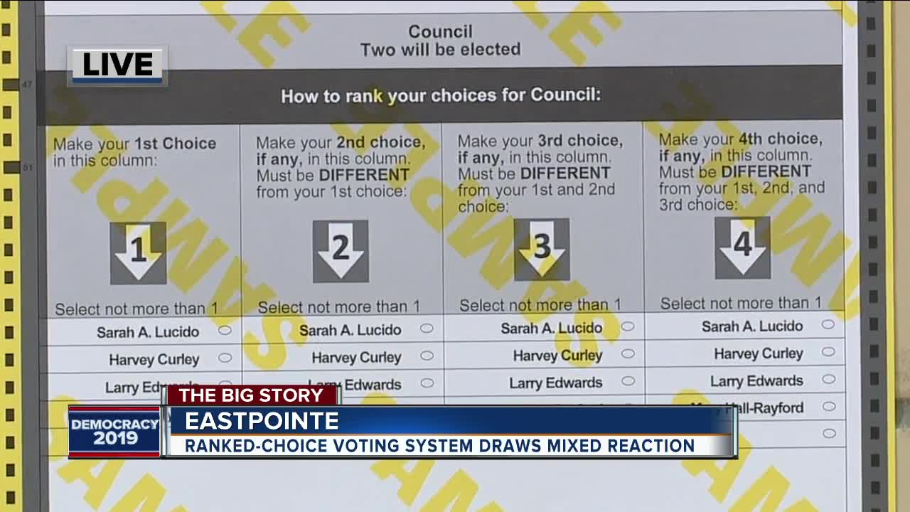 Eastpointe using ranked voting in today's election