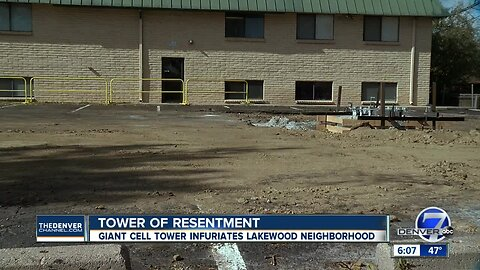 New cell tower going up in Lakewood has neighbors upset