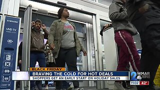 Black Friday shoppers brave the cold for hot deals