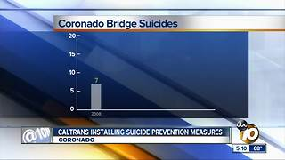 Caltrans working to prevent Coronado Bridge suicides - Video