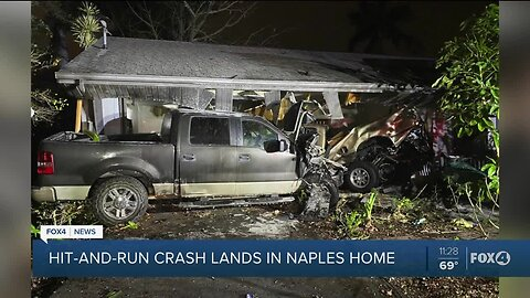 Hit-and-run crash lands in Naples home