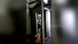 Creaking door sounds like dying person - Video