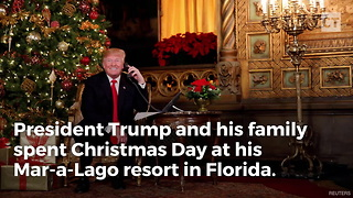 Trump Has Special Christmas for Security Detail - Video