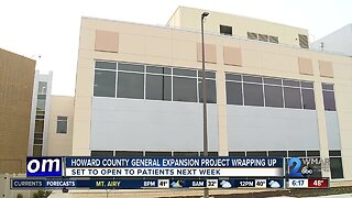 Howard County General Hospital expansion project wrapping up