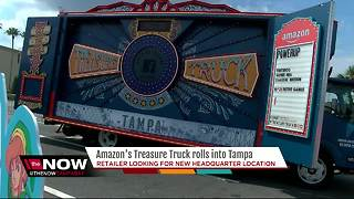 Amazon's Treasure Truck rolls into Tampa - Video