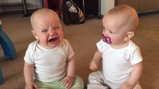 Twins Fight Over Pacifier | Funniest Sibling Rivalry Videos - Video