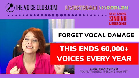 What NO ONE tells you about vocal damage; polyps, nodules and reflux, & loosing your voice forever