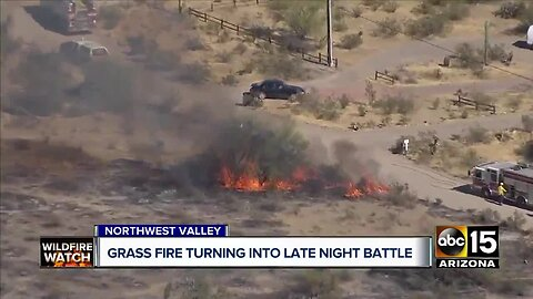 Dove Fire burning in northwest Valley grows to 1000 acres