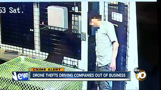 Drone thefts driving companies out of business - Video