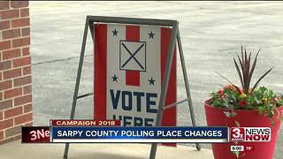 Sarpy County voters vote at new polls - Video