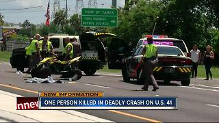 One person killed in deadly crash on U.S. 41 - Video