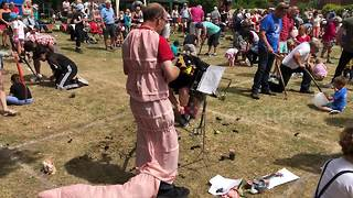 World Worm Charming Championships takes place in England - Video