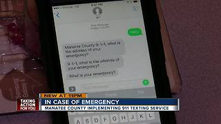 Can't call? You can now text 911 during an emergency in Manatee County - Video