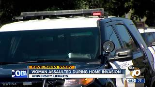 Woman assaulted during home invasion - Video