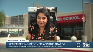 Community mourns death of beloved High School administrator
