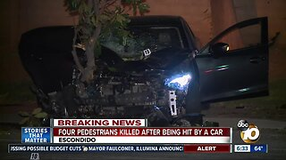 4 pedestrians killed after being hit by car in Escondido