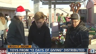 Toys from 13 Days of Giving being distributes - Video