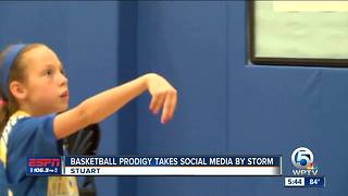 10-year-old basketball star takes over social media - Video