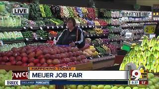 Meijer hosts Greater Cincinnati job fair to fill 400 jobs - Video