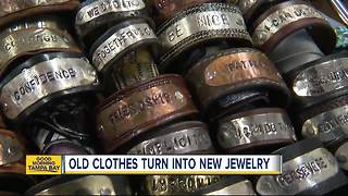Nonprofit turns clothes into handbags, bracelets to benefit food pantry, families in need - Video