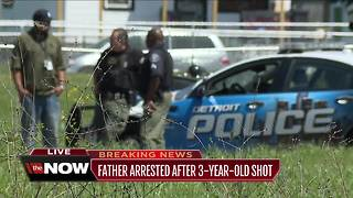3-year-old boy in critical condition after being shot in Detroit, father arrested