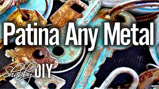 How to give metal an aged rusty patina finish - Video