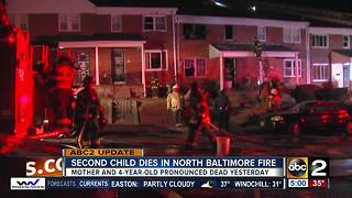Second child dies after Baltimore house fire - Video