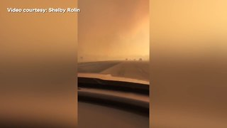 Motorist drives through RyeFire along Interstate 5 in Southern California - Video